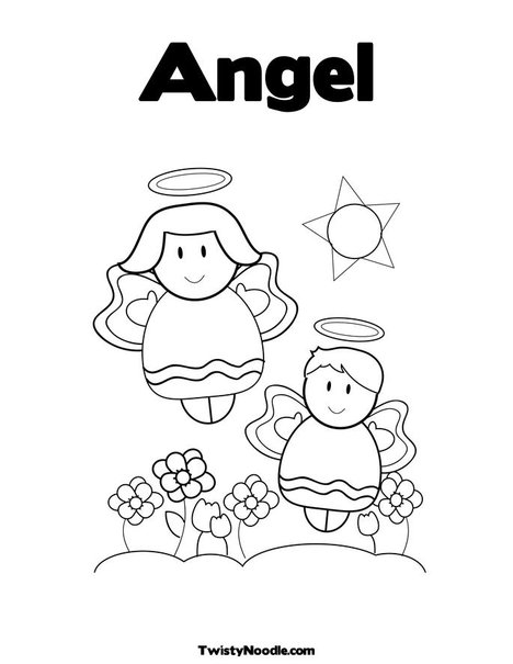 baby boy angel coloring pages-#23