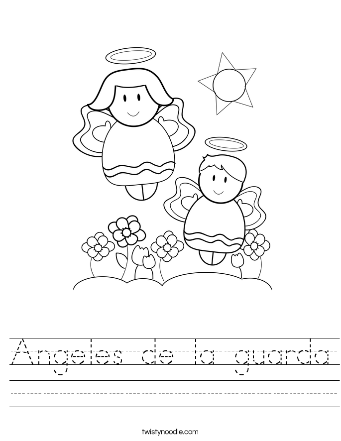Angeles de la guarda Worksheet