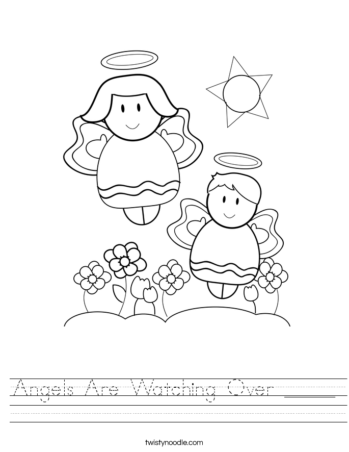 Angels Are Watching Over _____ Worksheet