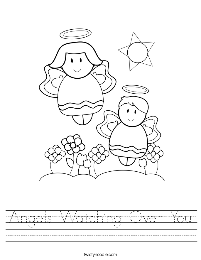 Angels Watching Over You Worksheet