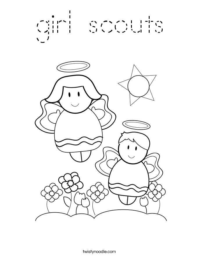 girl scouts Coloring Page