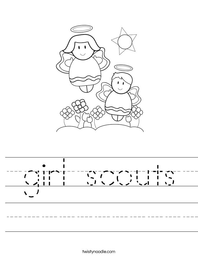 girl scouts Worksheet