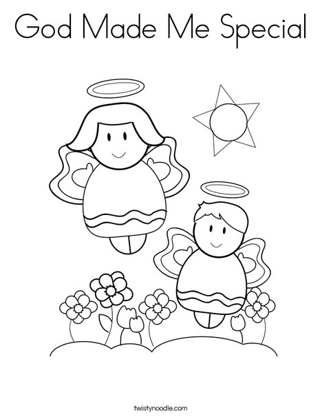 God Made Me Special Coloring Page - Twisty Noodle