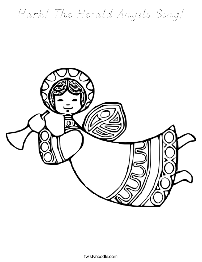 Hark The Herald Angels Sing Coloring Page