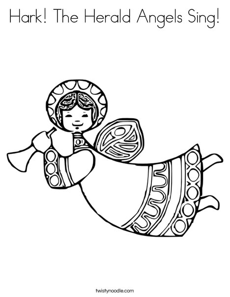 Singing Angels Coloring Page Hark the herald angels sing coloring page ...