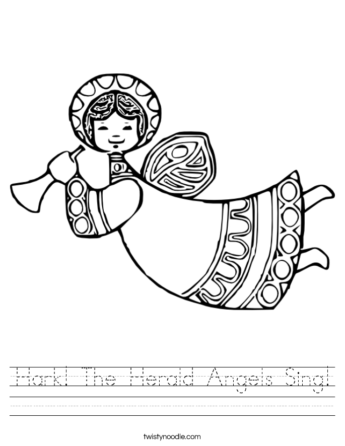 Hark! The Herald Angels Sing! Worksheet