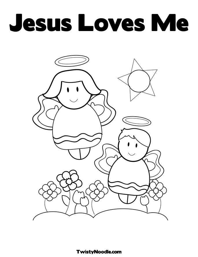 coloring pages jesus loves me | Free Inspired
