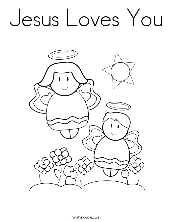 jesus loves you coloring pages - photo#3