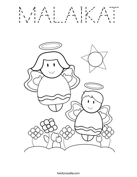 Angels Coloring Page