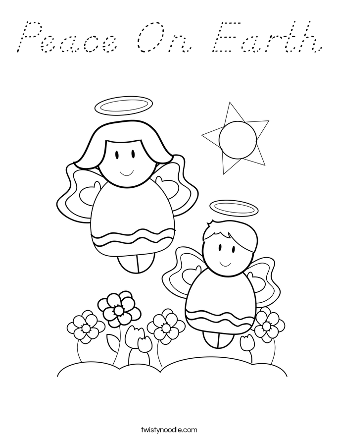 Peace On Earth Coloring Page
