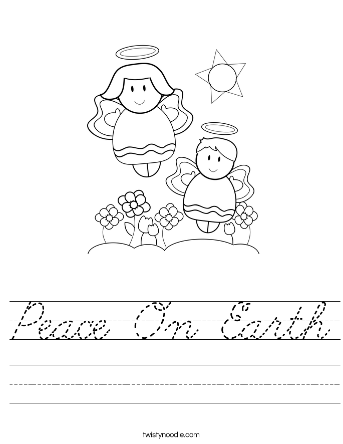 Peace On Earth Worksheet
