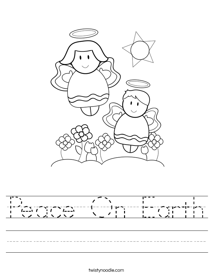 Peace On Earth Worksheet