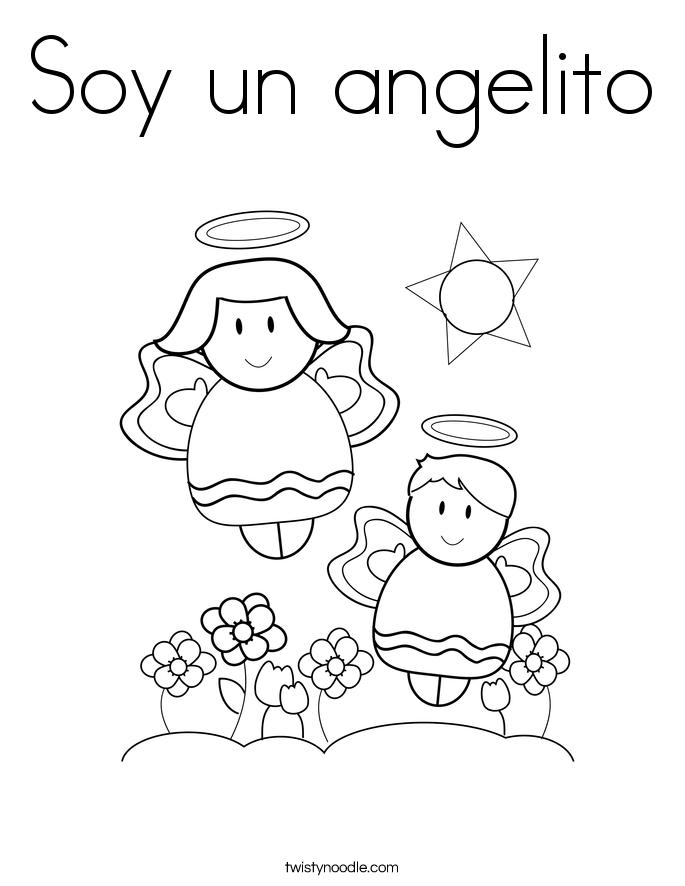Soy un angelito Coloring Page