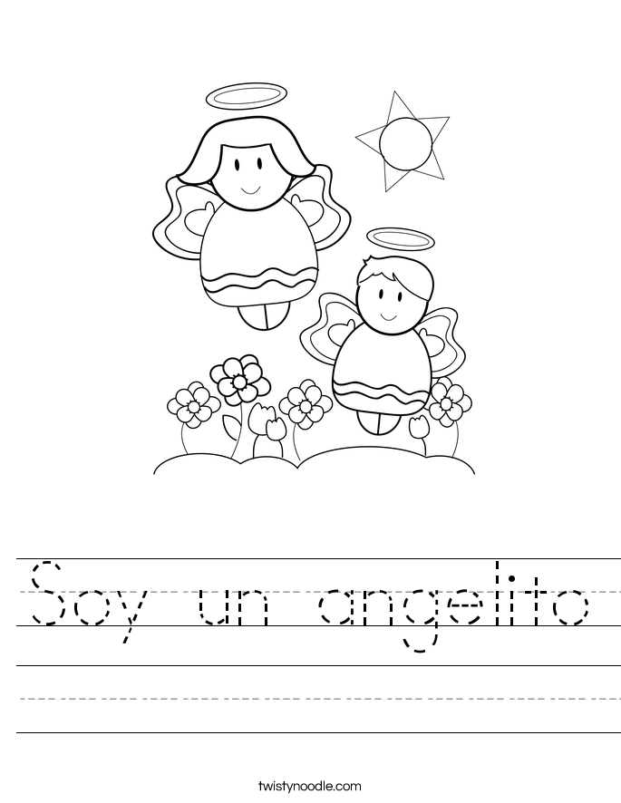 Soy un angelito Worksheet