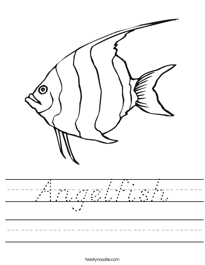 Angelfish Worksheet
