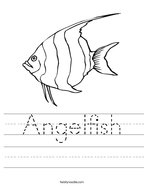 Angelfish Handwriting Sheet