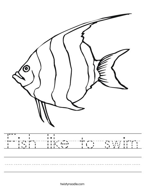 Angelfish Worksheet