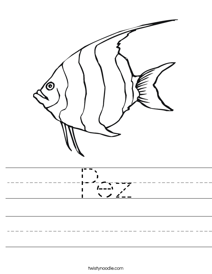 Pez Worksheet