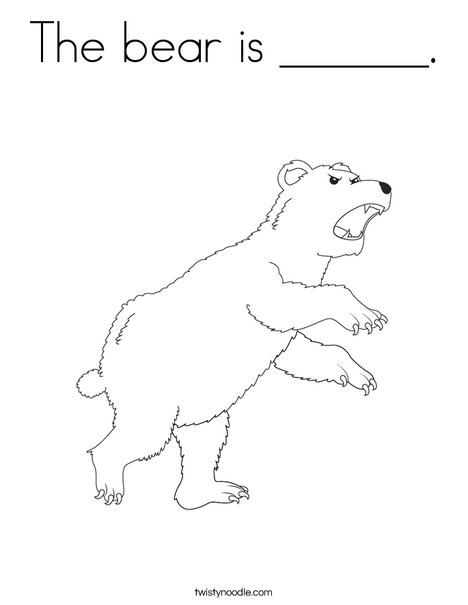 Angry Bear Coloring Page