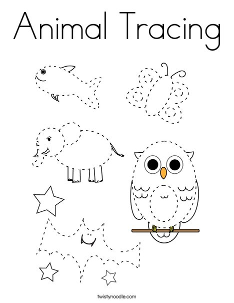 Collection Animal Tracing And Coloring Pages Pictures