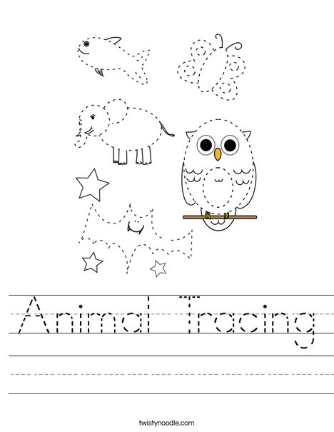 Animal Tracing Worksheet
