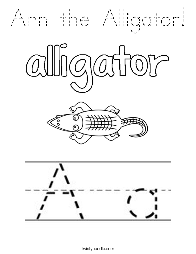 Ann the Alligator! Coloring Page