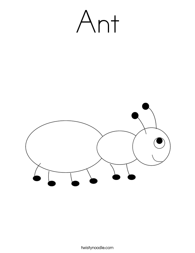 Ant Coloring Page Twisty Noodle Coloring Pages Ant