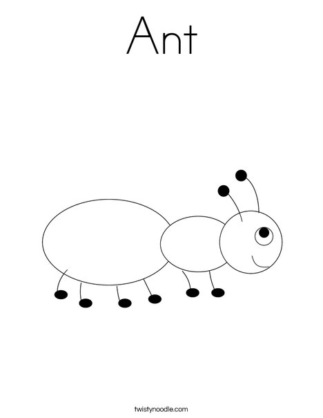 Ant Coloring Page Twisty Noodle
