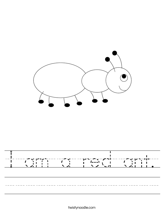 I am a red ant. Worksheet