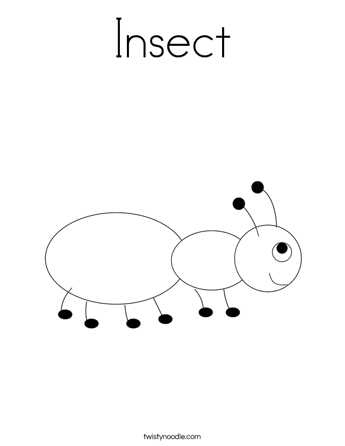 Insect Coloring Page Twisty Noodle Insect Coloring Pages