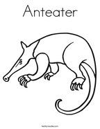 A Is For Anteater Coloring Page