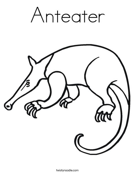 Anteater Coloring Page