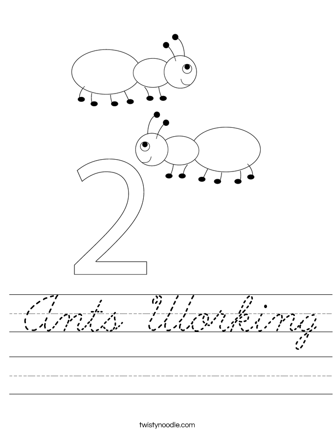 Ants Working Worksheet