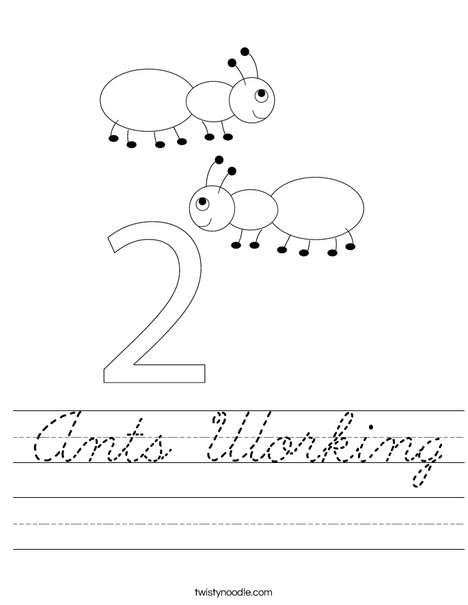Two Ants Worksheet
