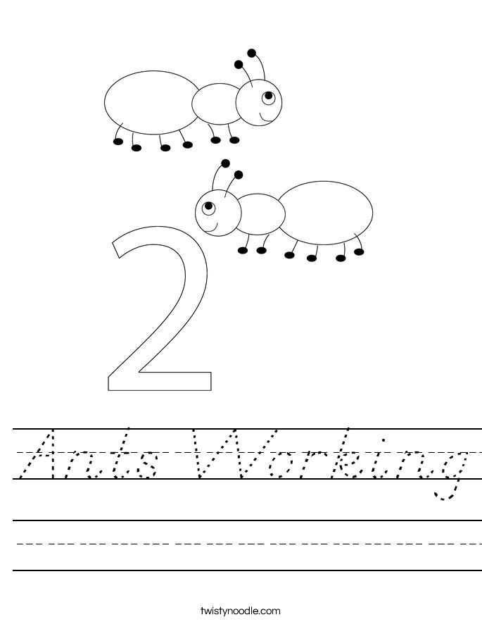 Ants Working Worksheet