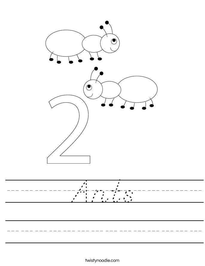 Ants Worksheet