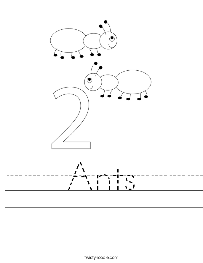 Ants Worksheet