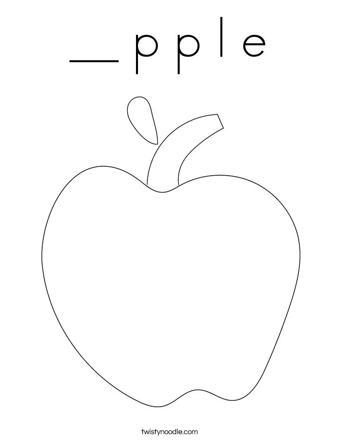 __ p p l e Coloring Page