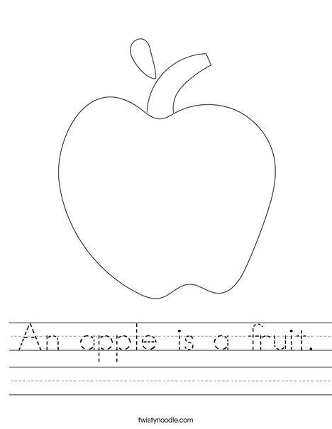 An apple is a fruit Worksheet - Twisty Noodle