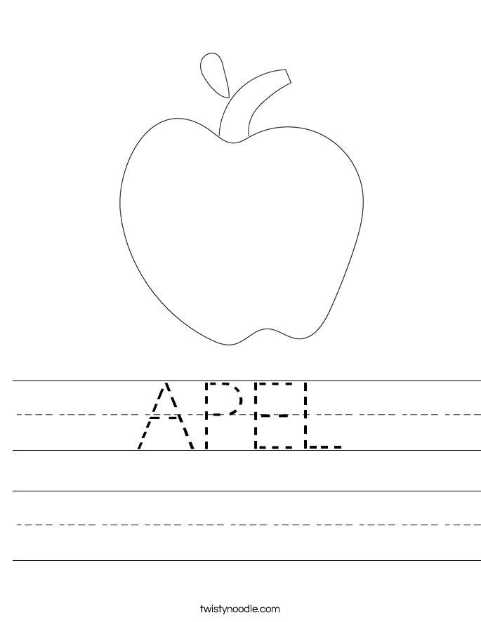 APEL Worksheet