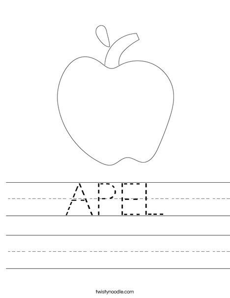 math worksheet : apel worksheet  twisty noodle : Kindergarten Apple Worksheets