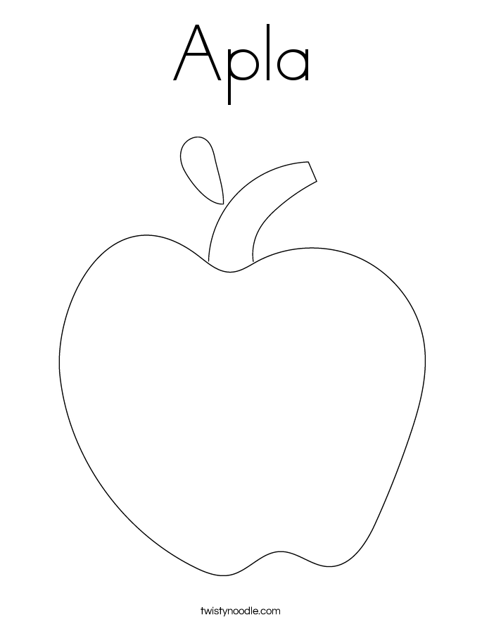 Apla Coloring Page