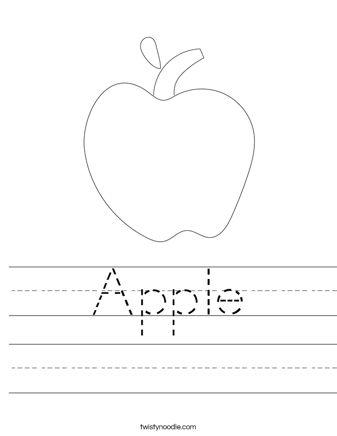 Free Apple Worksheets For Kindergarten