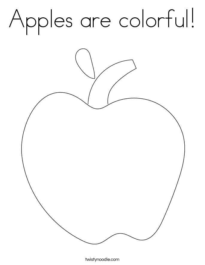 Apples are colorful! Coloring Page