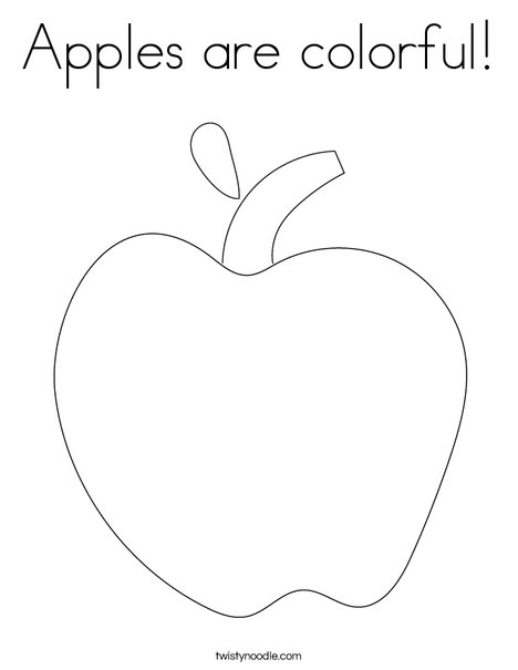 Apples Are Colorful Coloring Page