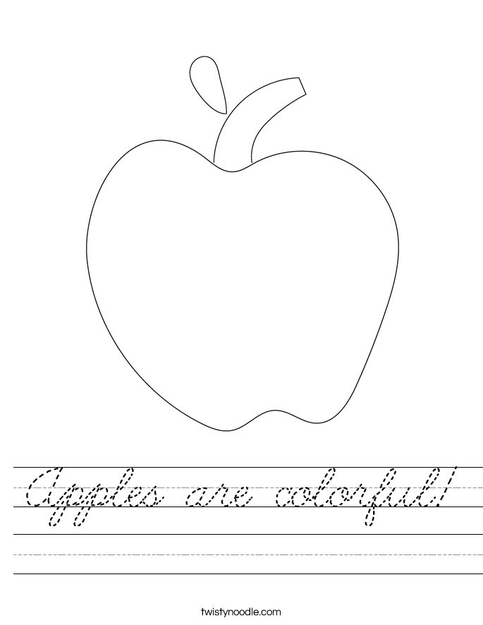 Apples are colorful! Worksheet