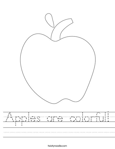 Apple Worksheet