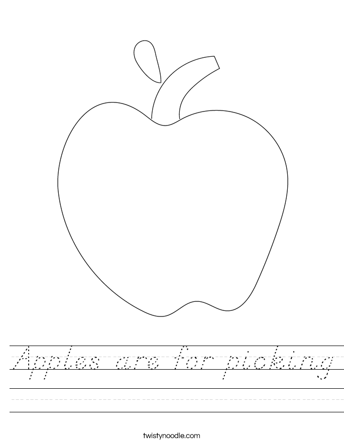 Apples are for picking Worksheet