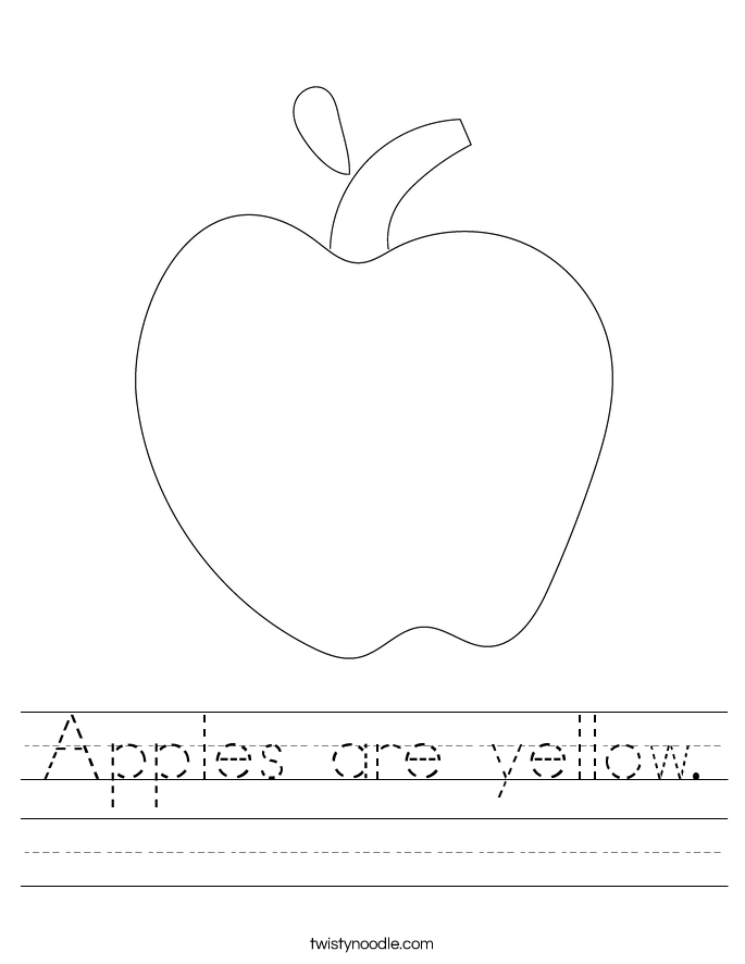 Apples are yellow. Worksheet