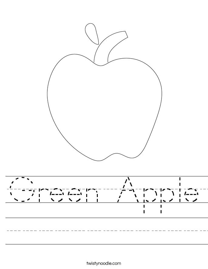 Green Apple Worksheet